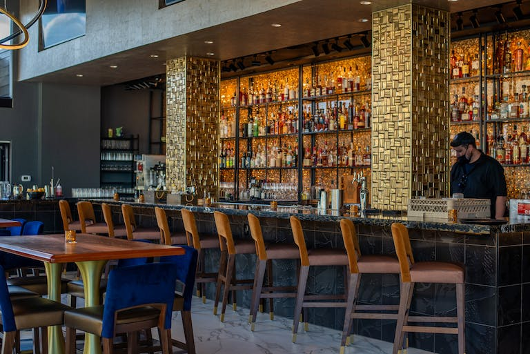 Five Thirty Rooftop Lounge Bar where the magical cocktails are concocted